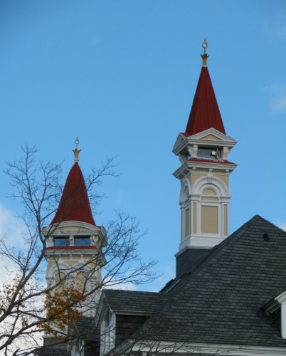 The Spires of the Main Building at Grand Traverse Commons