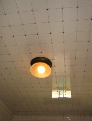 Have you ever seen tile on the bathroom ceiling?