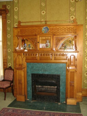 One of the fireplaces in the Hume House