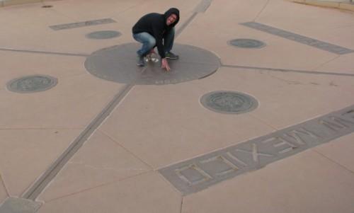 Jon Posing at the Four Corners Monument