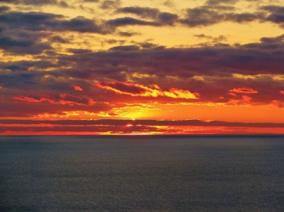 A spectacular Lake Michigan Sunset!