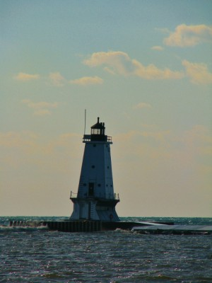 The Ludington North Breakwater Light