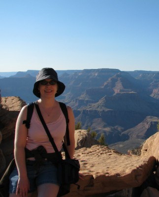 Me at Ooh Aah Point, with the Grand Canyon in the background
