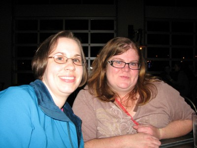 My cousin and I at Arcadia Brewery
