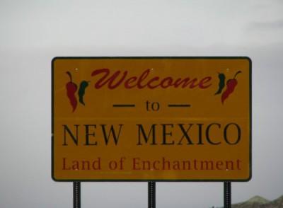 Entering New Mexico!