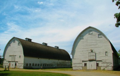 The barns speak to the refuge's farming history