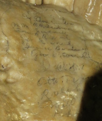 Century Old Graffiti at the Oregon Caves