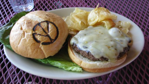 My Angus Burger at Peace Tree Cafe