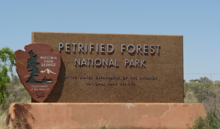 The Entrance Sign at Petrified Forest National Park