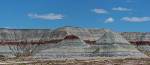 The blue, gray and red layers of The Tepees area
