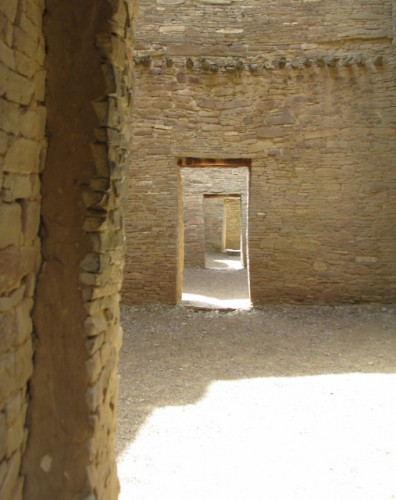 A series of rooms at Pueblo Bonito