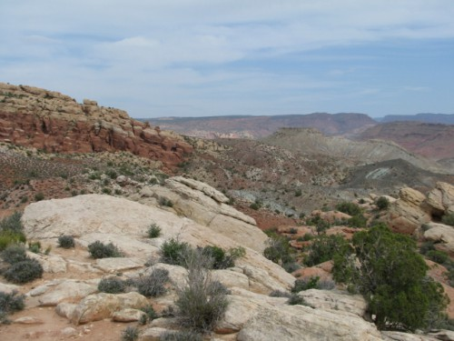 The view from the Salt Valley Overlook – Arches National Park