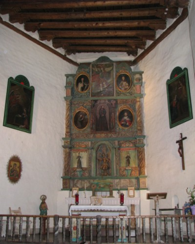 The Altar Inside the San Miguel Mission