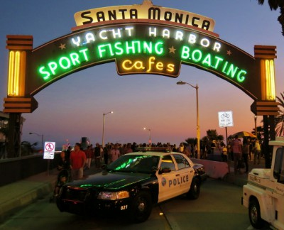 The Sign at the Top of the Santa Monica Pier