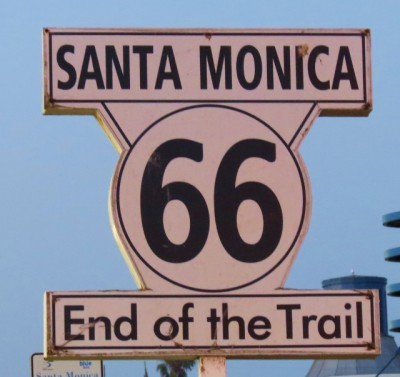 The end of Route 66!