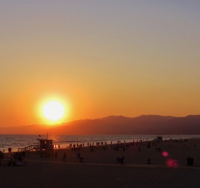 A beautiful California sunset