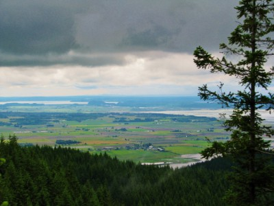 Skagit County Farmland – With Ominous Clouds Above