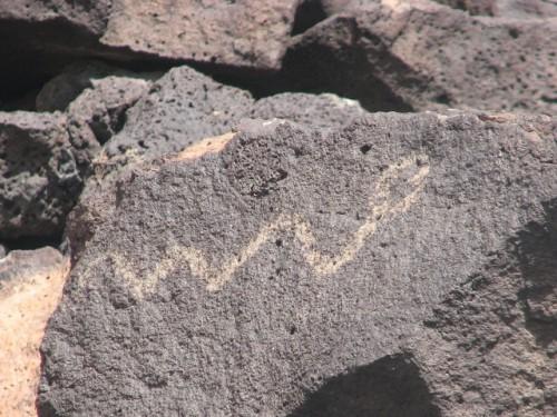 A snake petroglyph