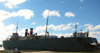 The SS City of Milwaukee – the last operational car ferry – built 1931