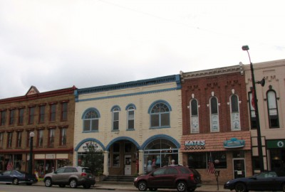 Storefronts in Marshall, Michigan