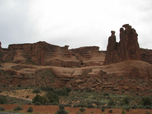 The Three Gossips at Arches NP – I think it should be called Eagle Rock