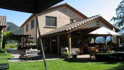 Troon Winery from our covered seating