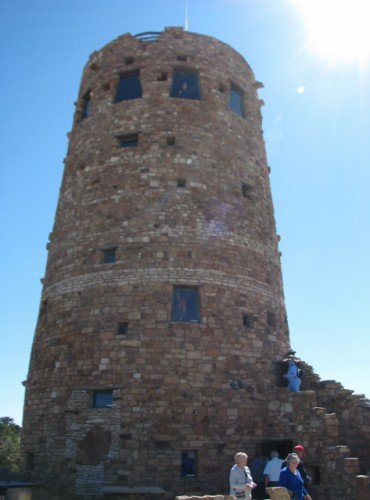 The detail of the historic Watchtower was intended to make it look more authentic. Notice the blocked over T-shaped doorway in the lower left.