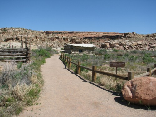 Wolfe Ranch – At the Delicate Arch Trail Head. To the left is the original corral fencing.