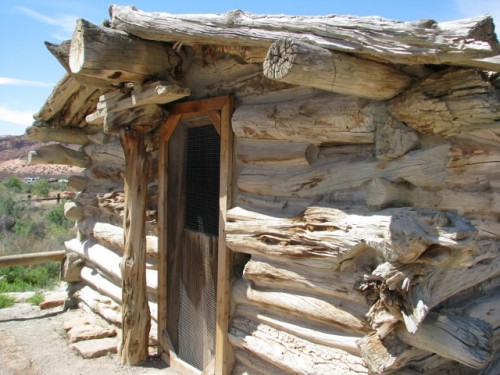 The Front Door of the Wolfe Ranch Cabin