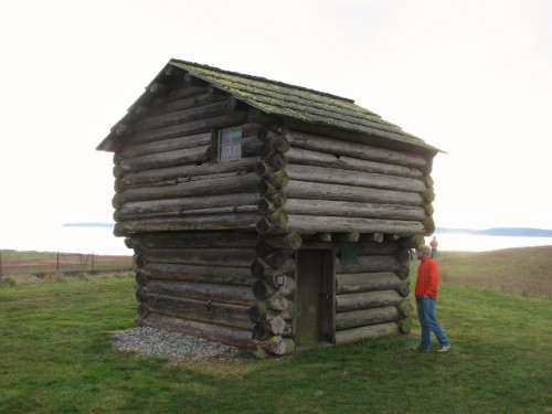 This is one of four blockhouses on the site – one was built in 1855; the other three were built after Isaac Ebey's murder.