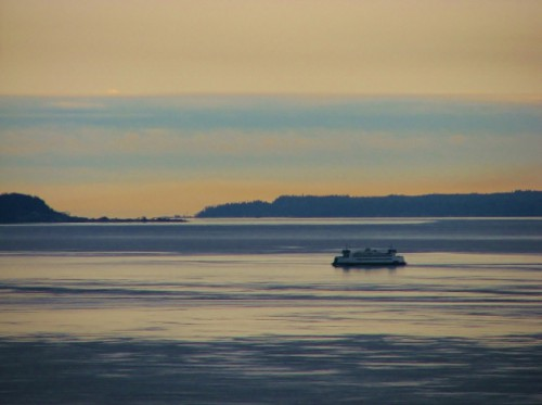 The Washington State Ferry – Crossing from Port Townsend to Coupeville