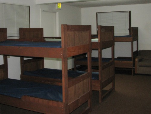 Our sleeping quarters – they did remind me that I have gotten too old for bunk beds. My Tempurpedic is much better!