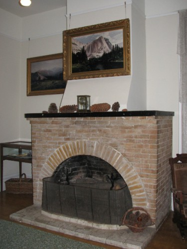 The fireplace John Muir built after the 1906 earthquake – this one is much more robust