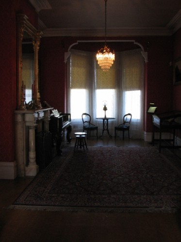 The front sitting room at the John Muir Mansion – with one of the original marble fireplaces