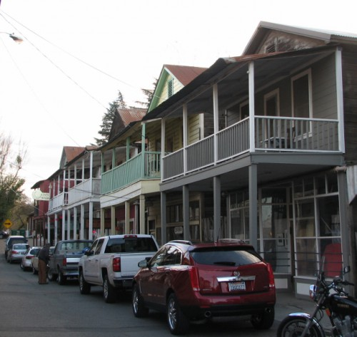 A row of historic buildings in Locke, California