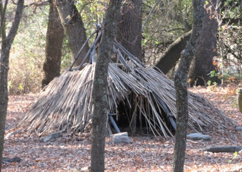 A Replica Dwelling at Maidu Historic Site