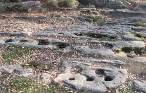 Bedrock Mortar Holes at Maidu Historic Site