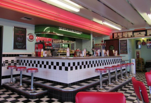 I loved the vintage look of the Soda Fountain