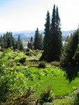 The garden looks out over Wenatchee.