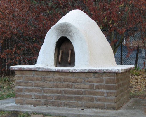An outdoor oven at the Martinez Adobe