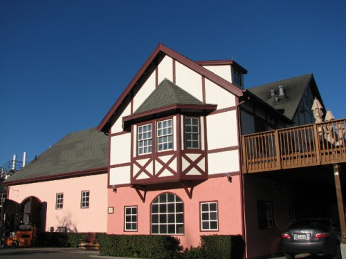 Schug Winery – the tasting room is just the dark pink section in the middle. Cozy!