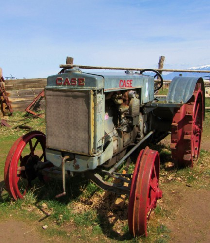 An antique Case Tractor