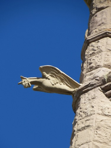 The detail of one of the Cathedrals' Gargoyles