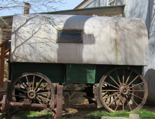 The exterior of the Cook's Wagon