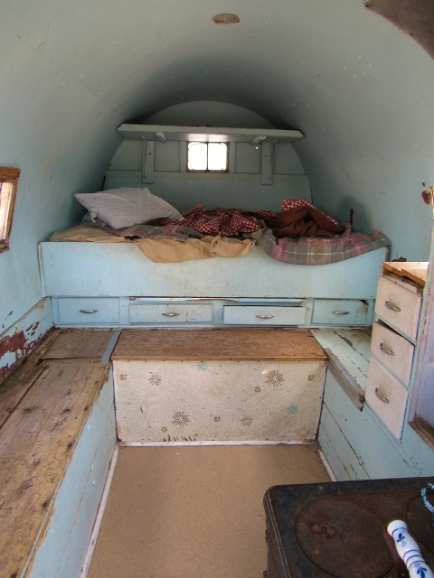 The interior of the Cook's Wagon
