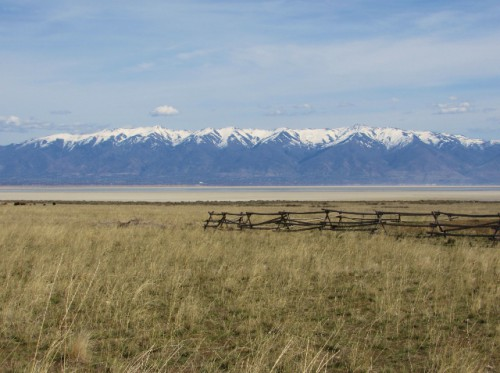 The Wasatch Mountains from the Fielding Garr Ranch