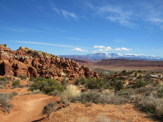 The view from the Broken Arch trail head