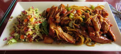 Chicken Yakisoba at Chelan Teriyaki - Delicious!