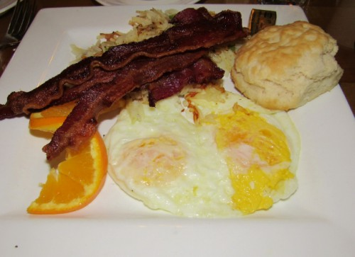 My country breakfast at the National Park Inn