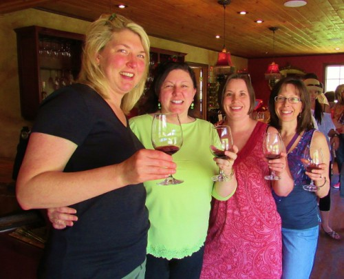 The four of us at Hard Row to Hoe Vineyards. Aren't we cute!
